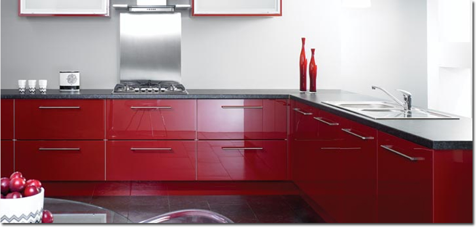 reflections burgundy fitted kitchen burgundy fitted